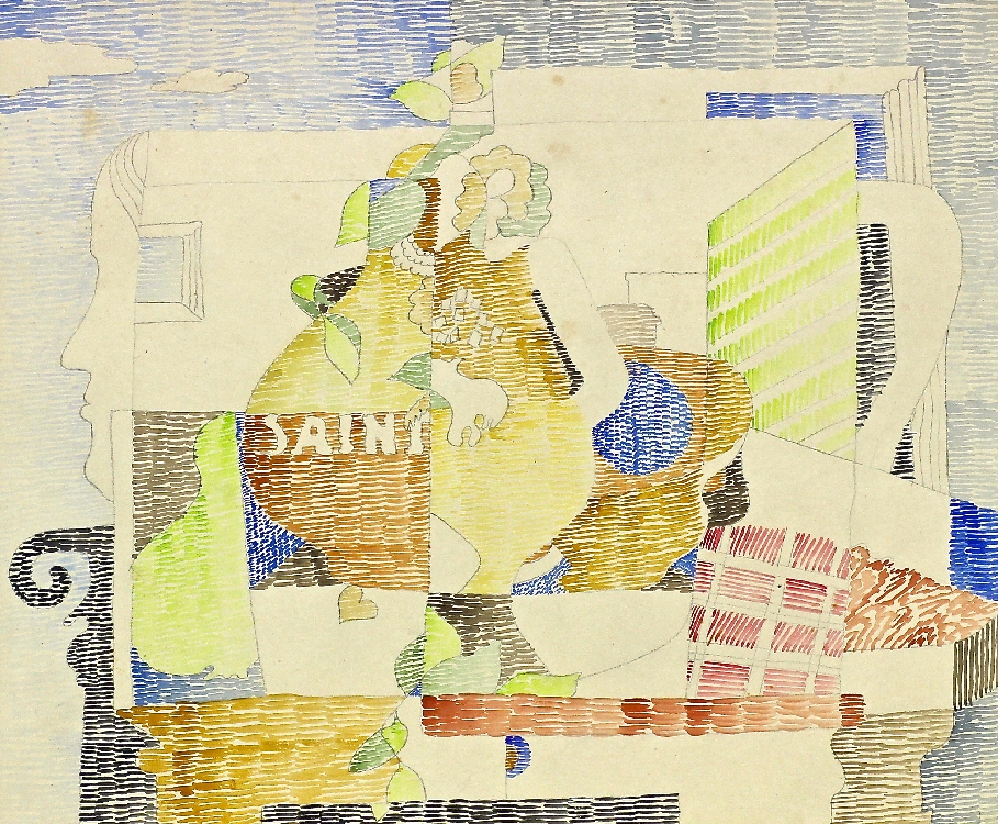 Herbert Behrens-Hangeler | Untitled (Saint) | presumed 1970 | Watercolour over pencil on cardboard | 48 x 36,5