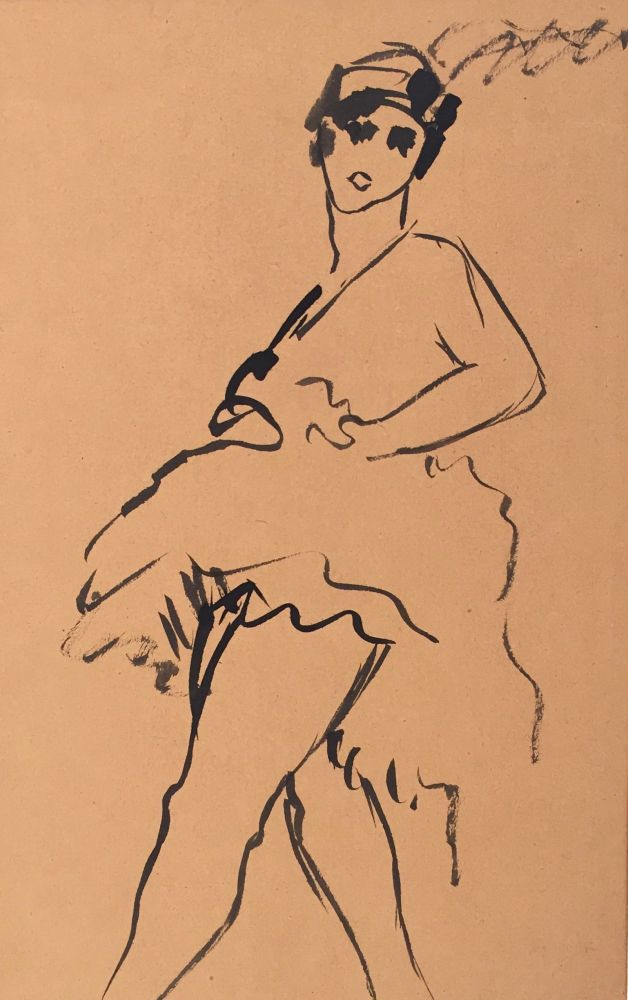 Herbert Behrens-Hangeler | Untitled | about 1920e | ink drawing | verso estate stamp | 23 x 15.3