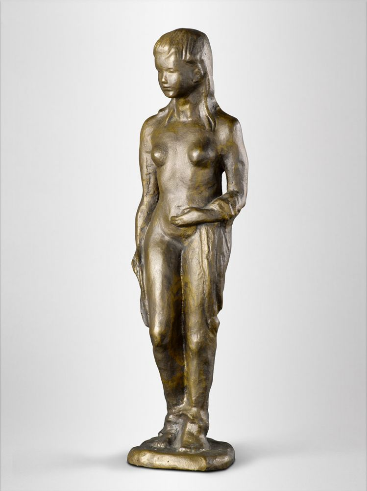 Ilse Fehling | Bather | bronze, sand casting | signed | 36 x 10