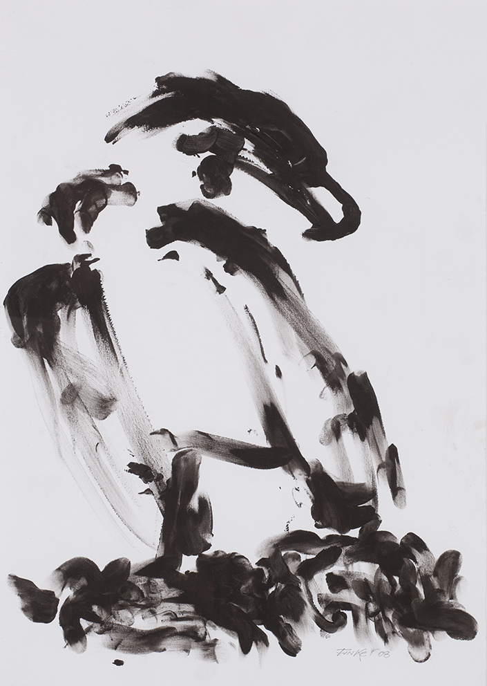 Dieter Finke | Untitled | 2008 | ink on paper | signed and dated | 66 x 48 cm