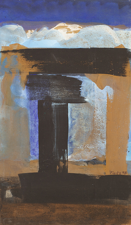 Dieter Finke | Untitled | about 1990 | acrylic on wood | verso estate stamp | 80 x 47 cm