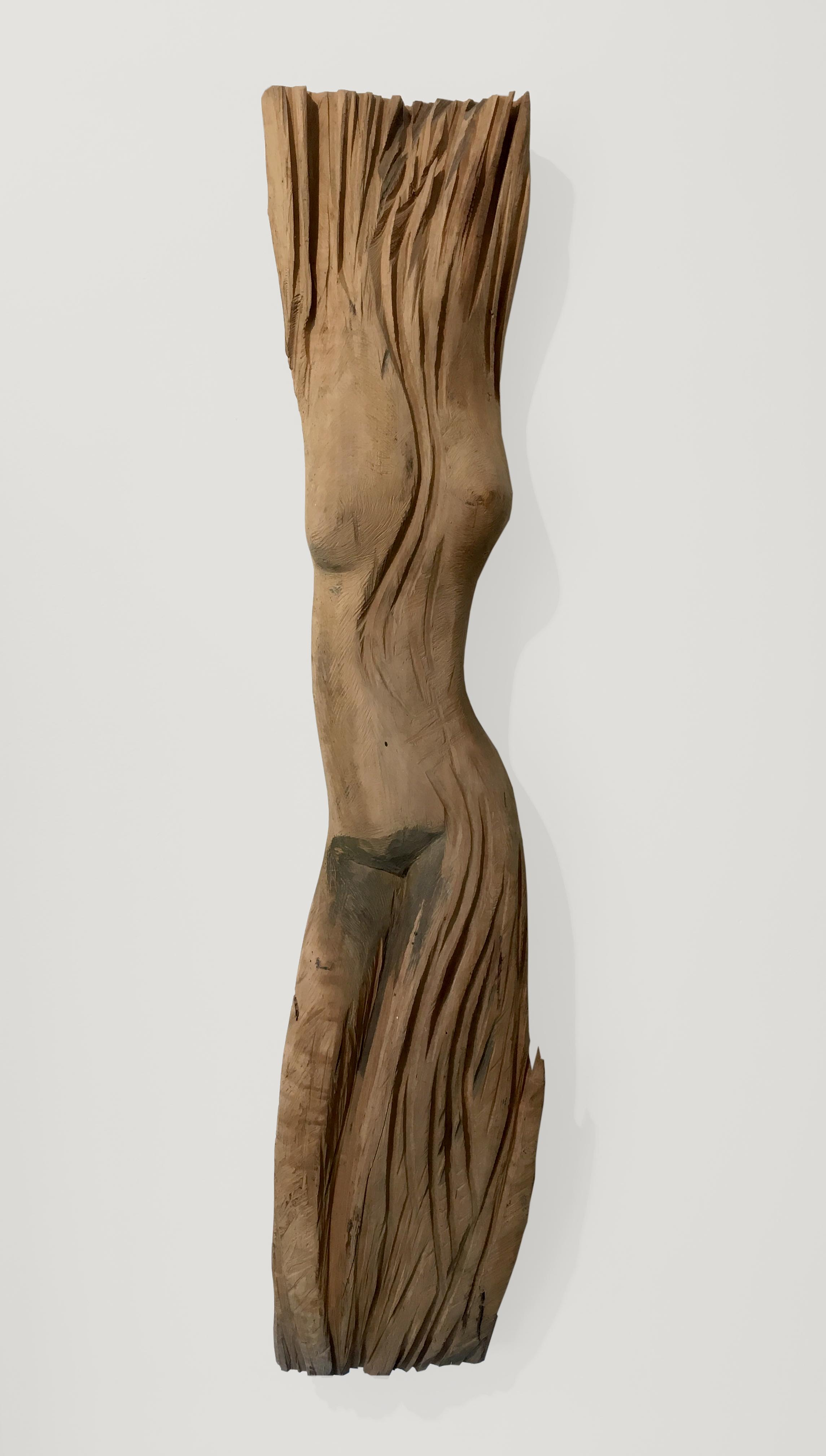Dieter Finke | Untitled (Female Figure) | wood | 1990s | 101 x 21 x 8 cm