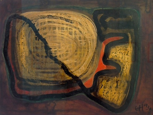 Erwin Hahs | Dark Life | 1930 | oil and varnish on cardboard | monogrammed and dated | 44,2 x 59,2