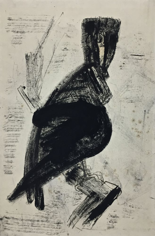 Josef Hegenbarth | Raptor | drawing ink | 1957 | verso dated and estate stamp | 37.8 x 25.2