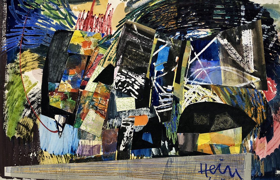 Gerhart Hein | Untitled | 1950s | mixed media | signed | mixed media and collage | 52.8 x 78 cm