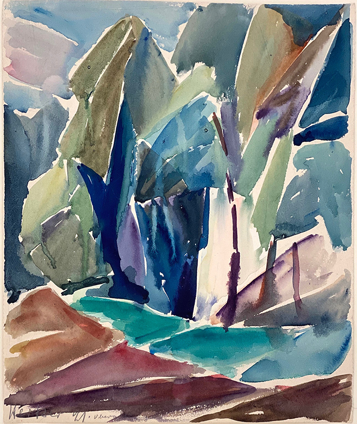 Else Hertzer | Oberalting | 1921 | watercolour | signed and dated | 50 x 40 cm