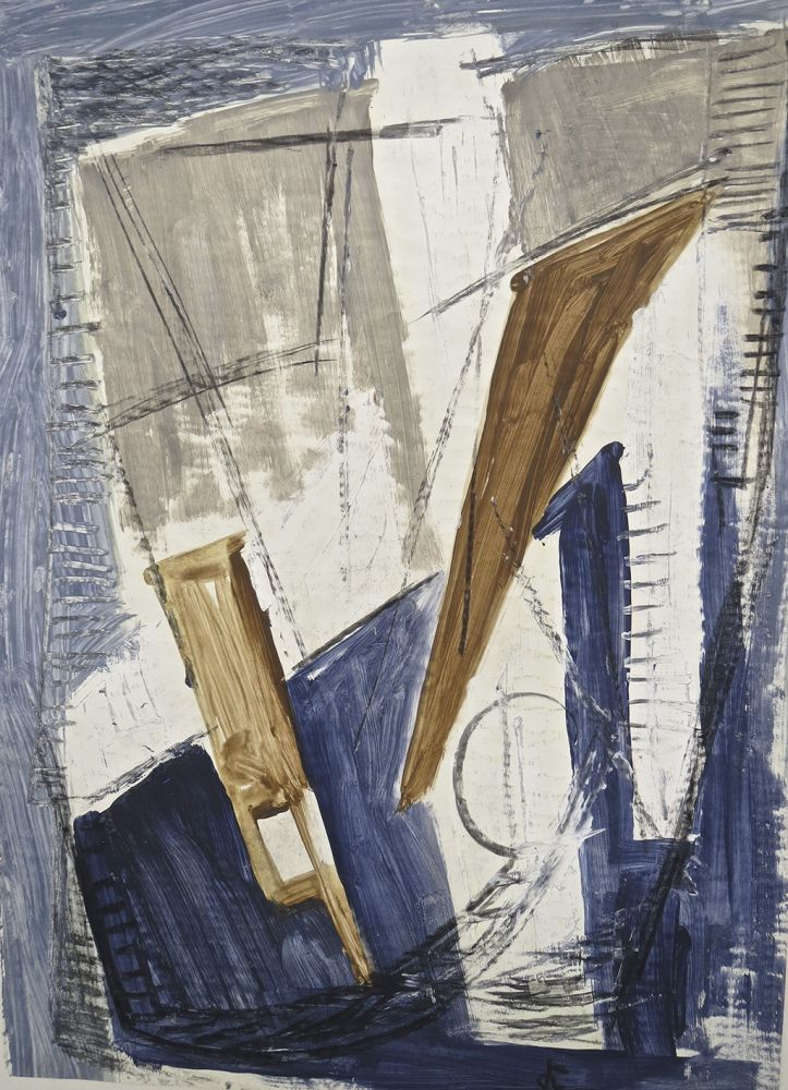 Hans Kinder | Salis in Harbour | about 1950/60 | gouache on paper | monogrammed | 67 x 48.5