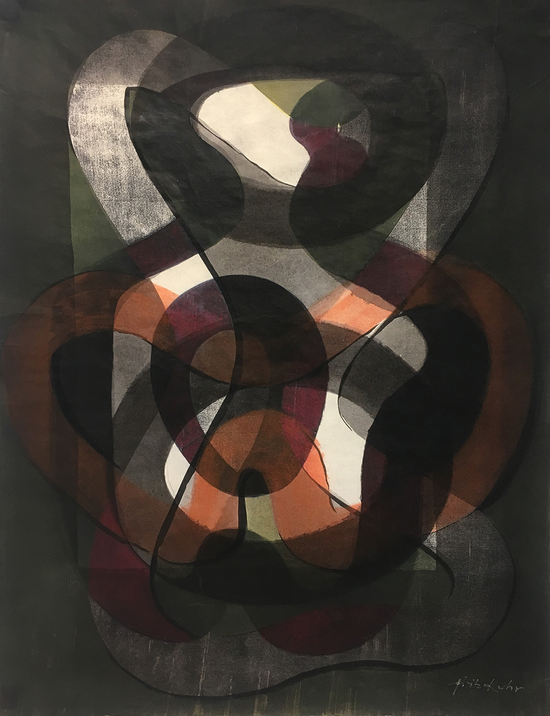Fritz Kuhr | Untitled | 1963 | mixed media | signed | 62 x 48 cm