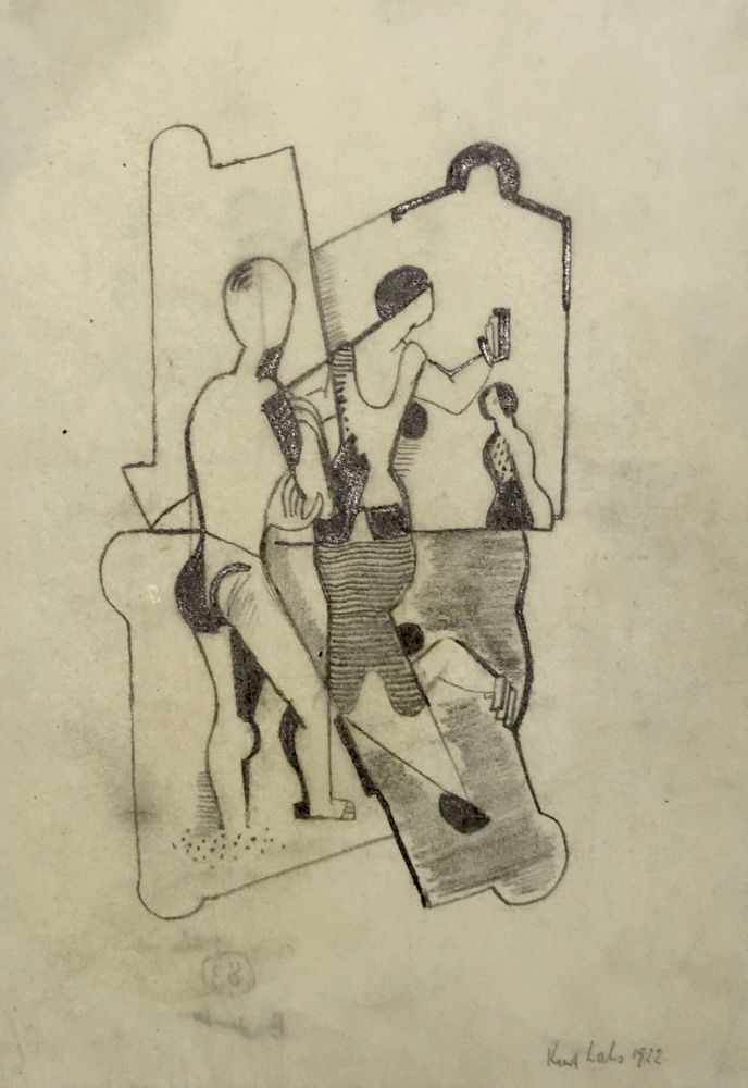 Curt Lahs | Bather | 1922 | graphite on fine paper | signed and dated | 27.2 x 19