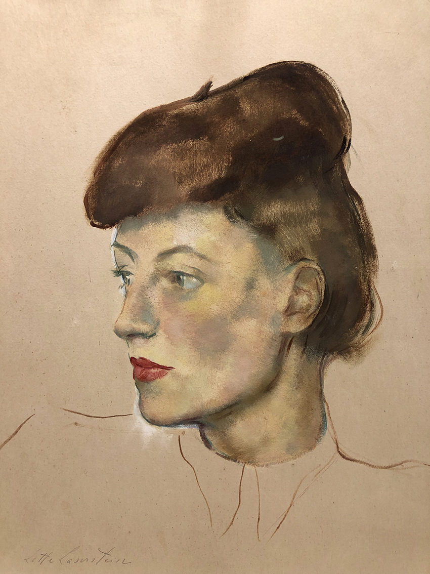Lotte Laserstein | Woman Portrait | 1940s | oil and gouache on paper | signed | 40 x 32.5 cm