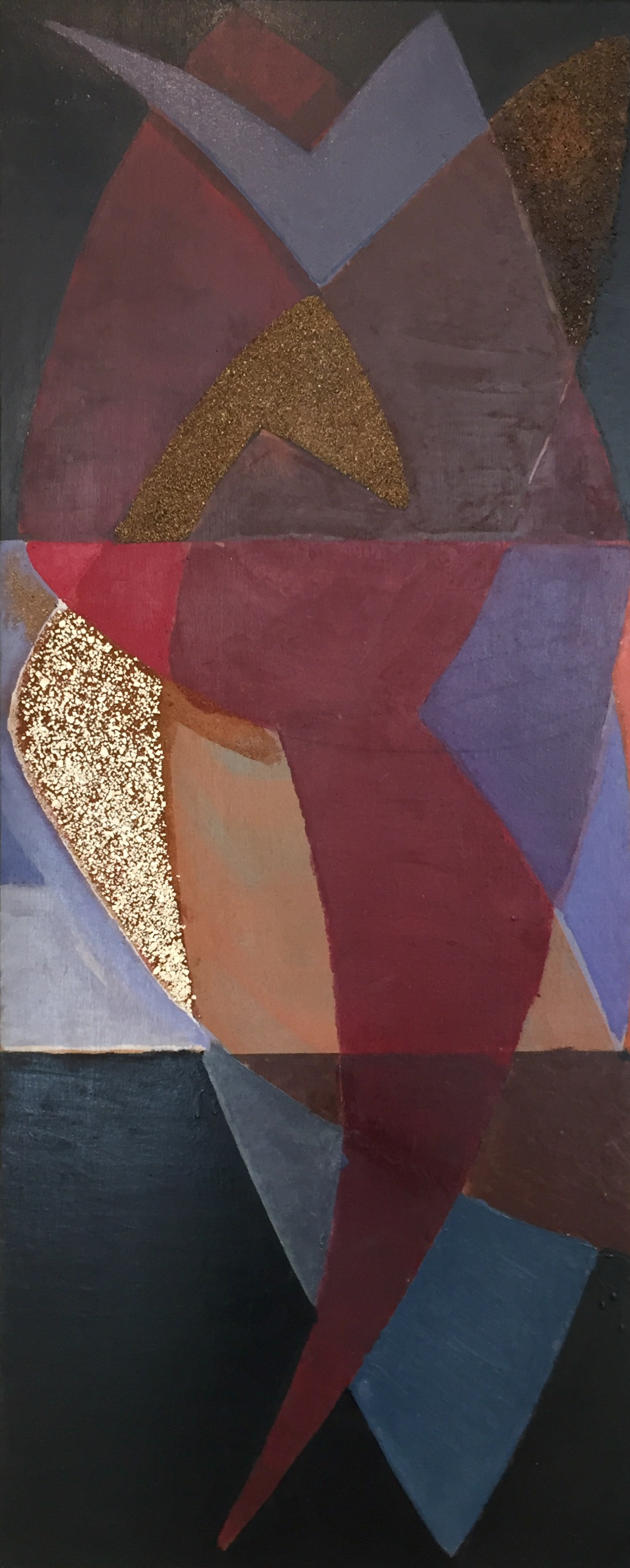 Alfred Reth | Composition | 1950s | Oil, sand, stone on wood | signed | 122 x 50 cm