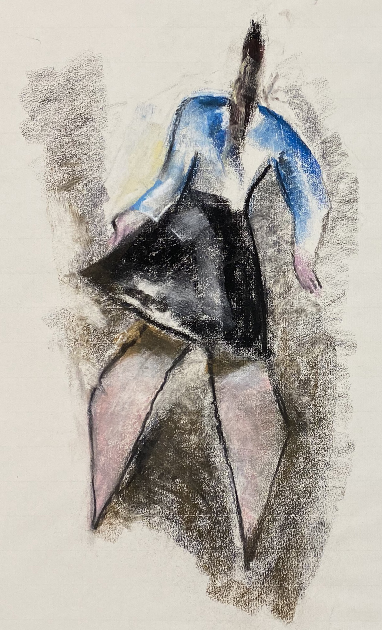 Werner Scholz | Girl | 1980 | Pastels on handmade paper | monogrammed and dated | 63 x 48 cm
