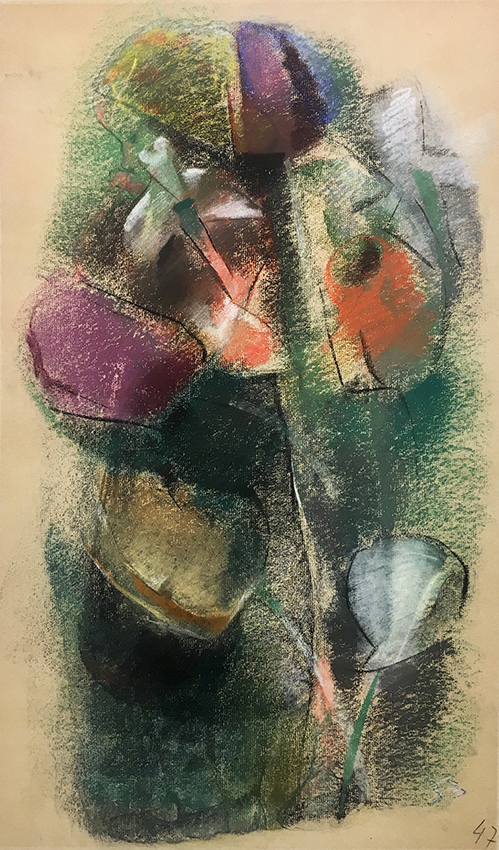 Werner Scholz | Tulips | 1947 | Pastels on handmade paper | dated | 63 x 41 cm