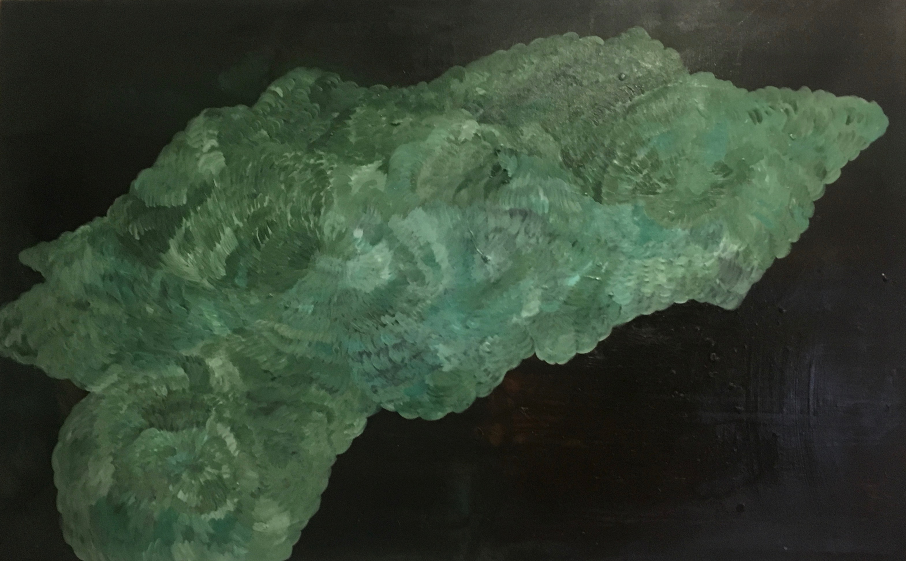 Zuzanna Skiba | Scottish green No. 1/3 | 2014 | Oil on canvas, varnished | verso signed, dated and titled |  93 x 150 cm
