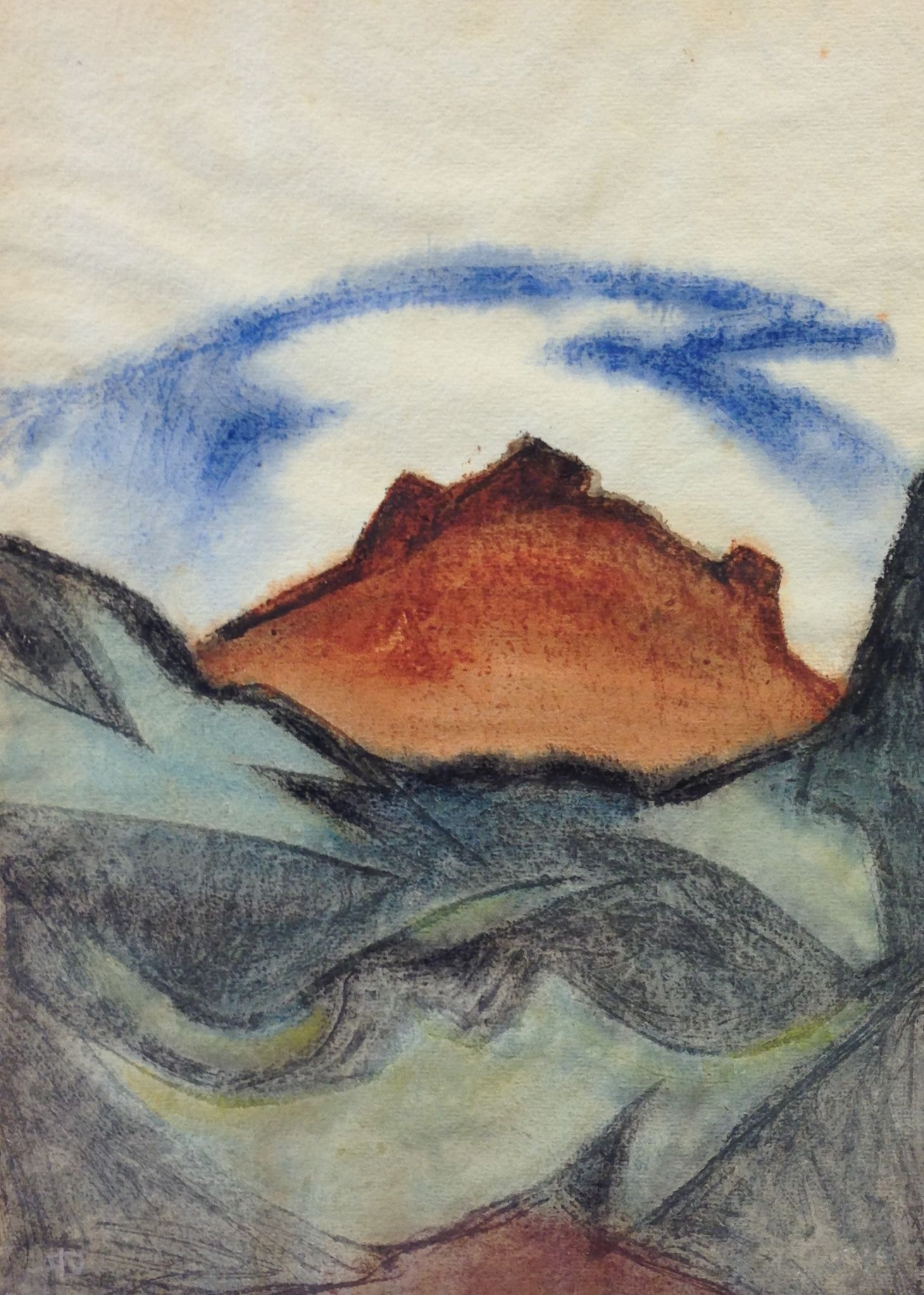 Fritz Stuckenberg | Mountain Landscape | about 1930 | watercolour and black chalk | monogrammed | 34 x 24.3